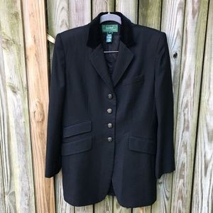 LRL Vintage 100% Wool Long Equestrian Blazer sz6